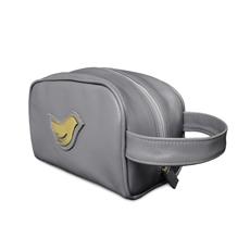 Necessaire de Couro Little Bird - Cinza