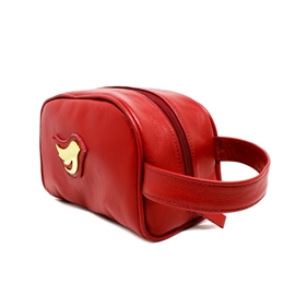 Necessaire de Couro Little Bird - Vermelho