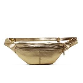 Pochete de Couro Lucca - Dourado