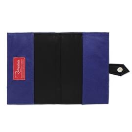 Porta Agenda de Couro - Azul Marinho/Preto