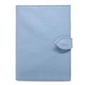 Porta Cartão de Vacina de Couro -  Azul Bebê