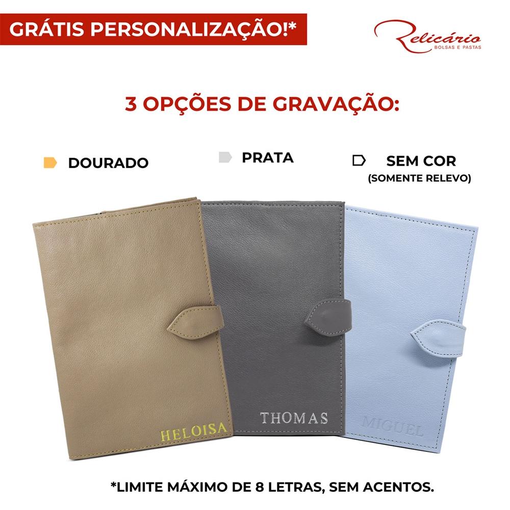 22601a51fb Porta Cartão de Vacina de Couro Azul Bebê   Relicário Kids