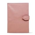 Porta Cartão de Vacina de Couro - Rosa Bebê