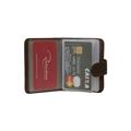 Porta-cartões de Couro CardNote – Marrom café