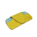 Porta óculos de Couro Croco - Amarelo