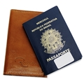 Porta Passaporte Traveller - Caramelo