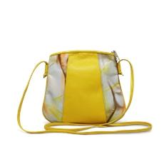 [Pré-venda] Bolsa a Tiracolo de Couro Laila Amarelo - Coleção Cores da Primavera