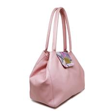 [Pré-venda] Bolsa de Couro Feminina Camila Rosa - Coleção Cores da Primavera