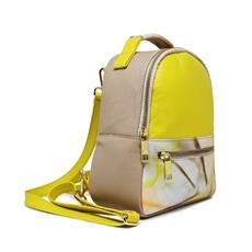 [Pré-venda] Bolsa Mochila de Couro Bárbara Amarelo - Coleção Cores da Primavera