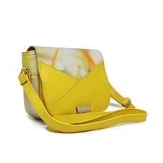 [Pré-venda] Bolsa Transversal de Couro Malu Amarelo - Coleção Cores da Primavera | Por Nanda Soares