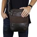 Shoulder Bag de Couro e Lona Sam - Marrom Café | Por Nanda Soares