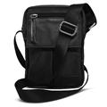 Shoulder Bag de Couro e Nylon Nick - Preto
