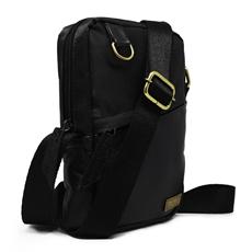 Shoulder Bag de Couro e Nylon Oliver - Preto