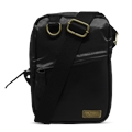 Shoulder Bag de Couro e Nylon Oliver - Preto