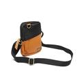 Shoulder Bag de Couro e Nylon Oliver - Preto/Laranja